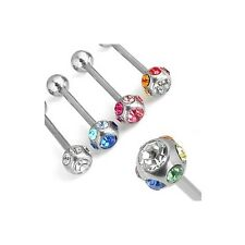 4er  SET  Zungenpiercing  7-STEINE  Piercing Zunge  HOT