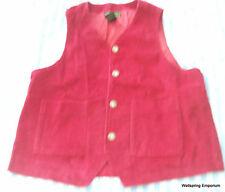 Deep Red Cotton Corduroy Vest Eddie Bauer Women's Medium Vest Weskit
