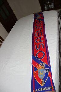 Scarf Of Football Vintage The Club Atlético Osasuna Pamplona Cotizada
