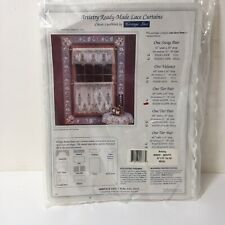 "Artistry Ready Made Lace Curtains Heritage 60"" x 24"" Tier Pair White"