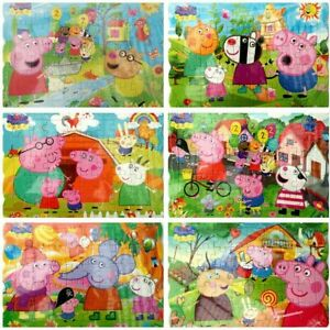 6x Peppa Pig Family Drawing Jigsaw Puzzle Best Gift for Kids 40-pcs Puzzles