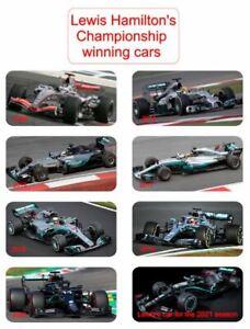 Lewis Hamilton Championship winning cars over the years Flexible Fridge Magnets