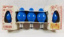 Vintage Westinghouse Blue Christmas Light Bulbs D18 C 7 1/2