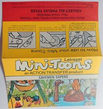 LETRASET MINI -TOONS ACTION TRANSFER VERY RARE EARLY PRINT