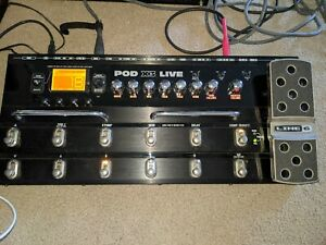 Line 6 POD X3 Live Multi Effect Stomp Box with Pedal w Power Supply NO RESERVE
