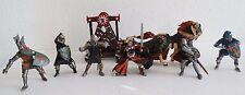 Papo & BlueBox Lot of 8 Figures: Battle War Horse, Knights, Battering Ram