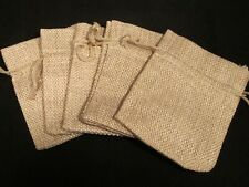 Faux Burlap Jewelry Bags – Set of 5 – Brand New