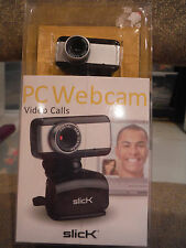 NEW SLICK PC WEBCAM - Easy to setup & use! Works w Skype & Most Video Calling