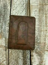 Will Leather Goods Bison Money Clip Front Pocket Wallet NEW Retail $98