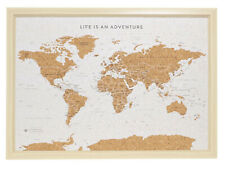 SPLOSH Large Personalised World Travel Map 53.5 x 36.5cm  :: Cork Board w Pins