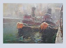 Jack Lorimer Gray Kunstdruck Poster Bild Lichtdruck Lotse im Winter 69x102 cm