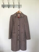 TED BAKER WOOL LONG LINE DUSTER COAT BOUCLE TWEED STYLE WOVEN Sz 4 UK 12/14 A214