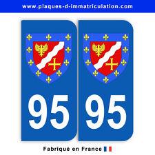 Stickers pour plaque département 95 Val-d'Oise (jeu de 2 stickers) blason