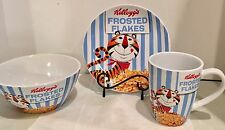 Kellogg's 2013 Tony the Tiger GOOD MORNING  Frosted Flakes - Plate, Mug, Bowl