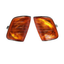 QTY2 Left & Right Amber Corner Lights Turn Signal Fit Mercedes-Benz W124 E-Class