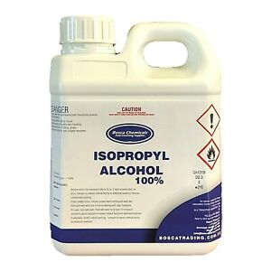 100% Isopropanol Isopropyl AlcohoI IPA Rubbing OH 1L  AU Seller FAST POSTAGE!!