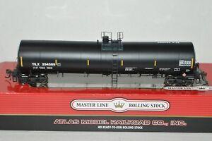 HO scale Atlas TILX Lease Trinity crude oil 25500 gallon modern tank car train