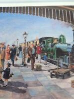 Ephemera 1985 Book Plate Railway Picture10x8 Inch Cholsey And Moulsford Station