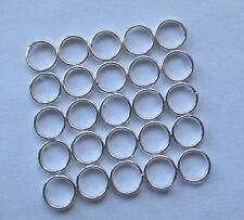 25 pcs 6mm silver plated DOUBLE Loop apri anelli aperti anelli brisè