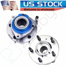 2 New Front Left & Right Wheel Hub and Bearing Assembly Pair For GM ABS 5 Lug