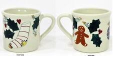 Hartstone Pottery CHRISTMAS TRADITIONS 14oz Mug Gingerbread Stocking Ornament