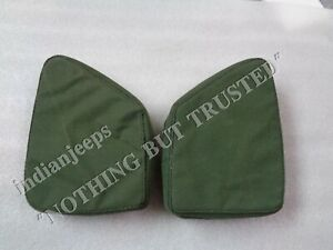 CANVAS THIGH PAD PAIR L+R FOR JEEP WILLYS MB GPW OLIVE GREEN,BLACK,KHAKI 1941-47