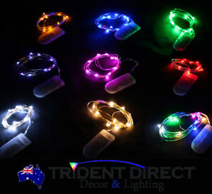 12x Led Fairy Lights String Party Christmas Indoor Copper Wire 1m