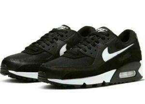 Nike Air Max 90 Women's Running Training Shoes Black/White CQ2560 001
