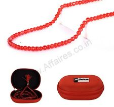 Affaires:Red Prayer Beads Japa Mala (108+1) Karma Beads Hindu Mala-007