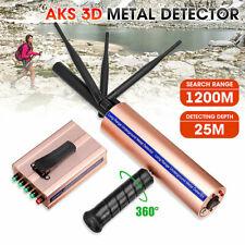 AKS Metal Detector 1400M Range 3 Antenna Locator Finder Gold Treasure Scanner