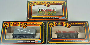 MAINLINE PRIVATE OWNER N.E. GOODS WAGONS X 3(LOT 10) VERY GOOD COND BOXED OO(UQ)
