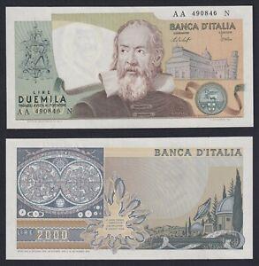 Italia 2000 lire G. Galilei 1976 FDS/UNC  B-09
