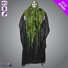 *Animated Shaking Hanging Skeleton Grim Reaper Ghoul Halloween Decoration Prop*