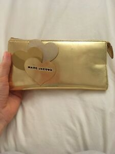 Marc Jacobs Gold Clutch Wallet New