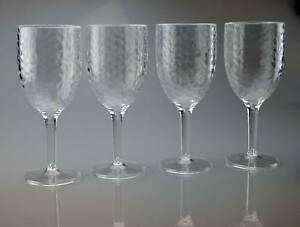 Clear High Quality Plastic Wine Glasses Goblets Pack of 2 or 4 Outdoor Reusable