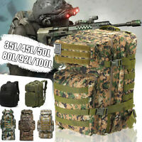 35-92L Outdoor Molle Military Tactical Bag Camping Hiking Trekking Backpack Pack