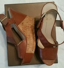 Womens Wedge Brown Sandal Shoe Size 11M  NEW!