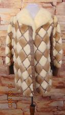 Vintage Women's 50s White & Brown Mink Fur & Leather Coat SizeS - M