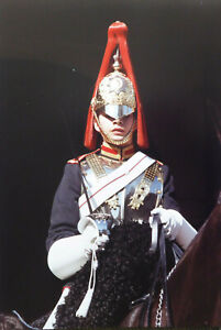 HORSE GUARD SOLDIER IN LONDON ORIGINAL PHOTO 17.5 X 12 INCHES BY MEL LONGHURST