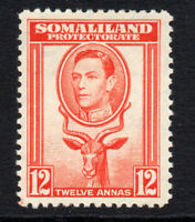 Somaliland  12 Anna c1938 Mounted Mint Stamp  (2132)