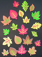 Autumn leaves foam stickers, scrapbooking, children's crafts, embellishments