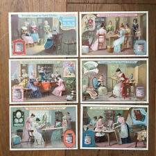 6 Chromos Liebig all Construction of Dames - Complete Series - Ladies Work