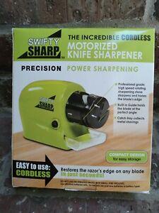 Swifty Sharp Cordless Motorized Knife Sharpener - New In Box