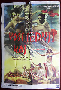 1955 Large Original Movie Poster L'ultimo Paradiso The Last Paradise Quilici