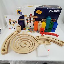Hape Quadrilla Wooden Marble Construction Basic Set, Complete with 99 Pieces