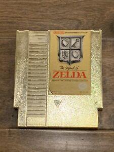 Nintendo Original 1985 The Legend Of Zelda Gold Cartridge Version