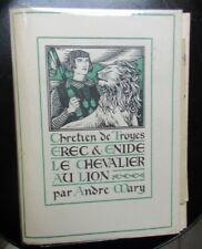 Erec et Enide Le Chevalier au Lion illustré par Lalau Ex avec dessin lettres