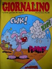 GIORNALINO n°38 1986 PINKY -  Inserto ALBO AVVENTURA Lucky Luke [G261]