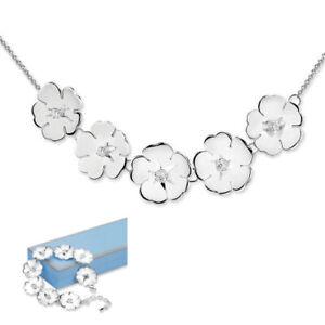 Newbridge Silverware Jewellery Silver Waterlily Necklace & Bracelet Set