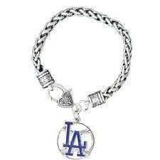 LA Dodgers Charm Bracelet, LA Dodgers Jewelry, Los Angeles Dodgers Womens Gift